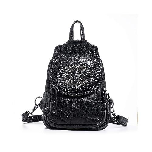Katloo Mini Backpack Purses Women Small Vegan Leather Sling Bag Nail  Clipper Black 6aab51f6fa
