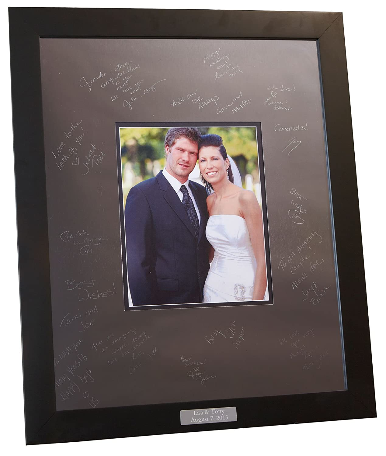 Amazon.com - Engravable Signature Frame 16x20 Metal Mat and Modern ...