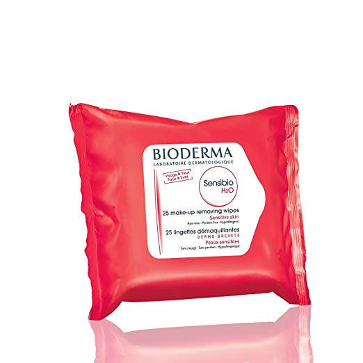 Bioderma Sensibio H2O Biodegradable Soothing Cleansing and Makeup Remover Wipes for Sensitive Skin - Face...