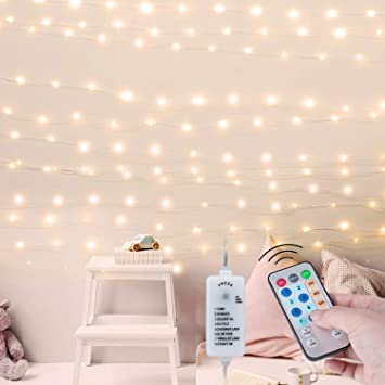 Usb Fairy String Lights With Remote And Power Adapter 66 Feet 200 Led Firefly Lights For Bedroom Wall Ceiling Christmas Tree Wreath Craft Wedding Party Decoration Warm White Amazon Com