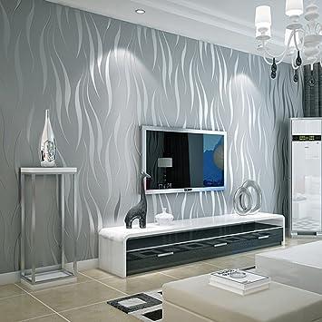 Wallpaper Moderne einfache Streifen-Vlies-Tapete-Kurven ...