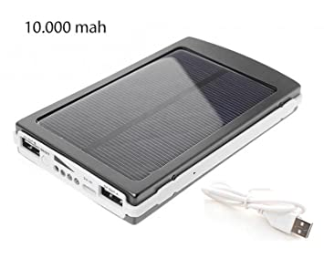 CARGADOR DE BATERIAS SOLAR POWER BANK 10.000 mAh TABLET ...