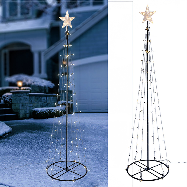 120.180,240 mila centimetri albero LED con albero in metallo stella luci dell'albero di Natale cono, Baum Längen:120 cm Haushalt International