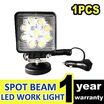 Amazon.com: 27 W 12 V barra de luz de trabajo LED proyector ...