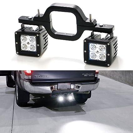 amazon com ijdmtoy tow hitch led pod light kit fit for many truckijdmtoy tow hitch led pod light kit fit for many truck suv trailer rv etc,