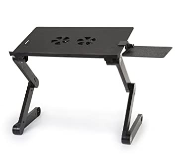 Charmant Tiny Deal T8 Adjusting Laptop Foldable Desk Notebook Table Folding Drawin  Board With Cooling Fan   Aluminum Alloy ECATH 298550 (Black, TDL45159)    Buy Tiny ...
