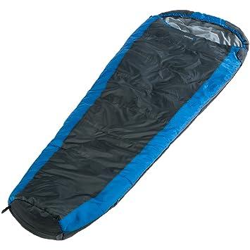 skandika Oakland - saco de dormir tipo momia - extra largo - 230x85cm - acoplable - bolsa de compresión - azul/gris (Para diestros): Amazon.es: Deportes y ...