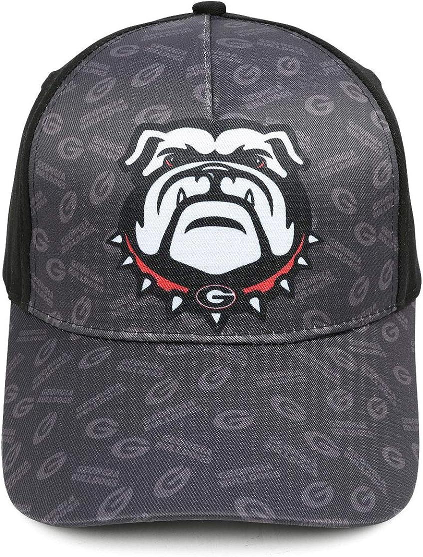 Men//Women Black Bulldogs Baseball Cap Classic Trucker Hat Adjustable Snapback