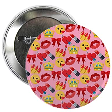 9b28bab12 Amazon.com: CafePress Emoji Girl Pattern 2.25 Button 2.25