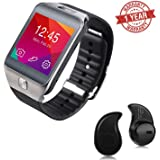 Premium Design Oppo Neo 7 4G Compatible Bluetooth Smart Watch DZ09 Phone With Camera and Sim Card & SD Card Support with free S530 bluetooth Headset (Random Colour)