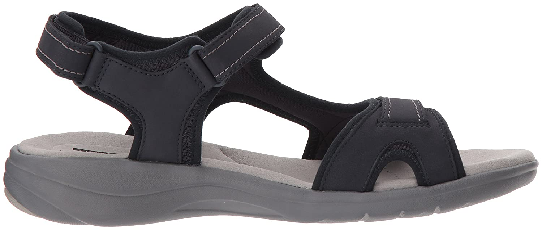 CLARKS Women's Saylie Jade Sandal B074CN7M15 6 W US|Navy