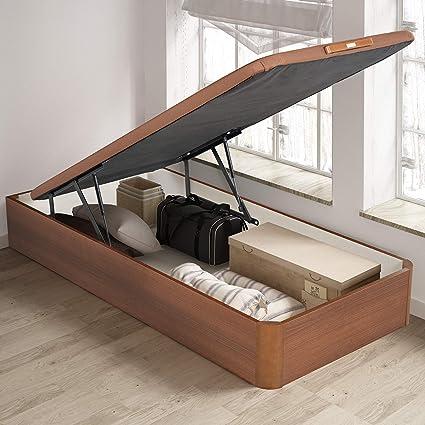 PIKOLIN, canapé abatible de almacenaje Color Cerezo 105x190, Servicio de Entrega Premium Incluido