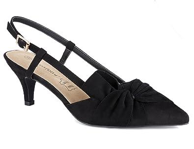 85082bba15d724 Greatonu Chaussures à Talons Bas Nrgro Classique Bande Suede Boucle arrière  Femme Taille 36 EU