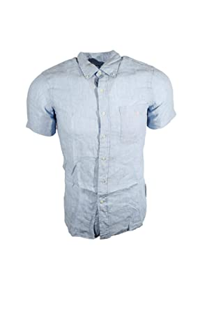 1a9f4c109 Image Unavailable. Image not available for. Color: Polo Ralph Lauren Men's  Short Sleeve Linen Sport Shirt ...