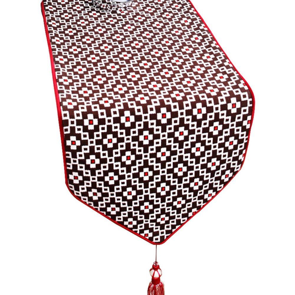 Table runner Cotton hemp modern coffee table flag Shoes Hotel restaurant table flag-A 33x240cm(13x94inch)