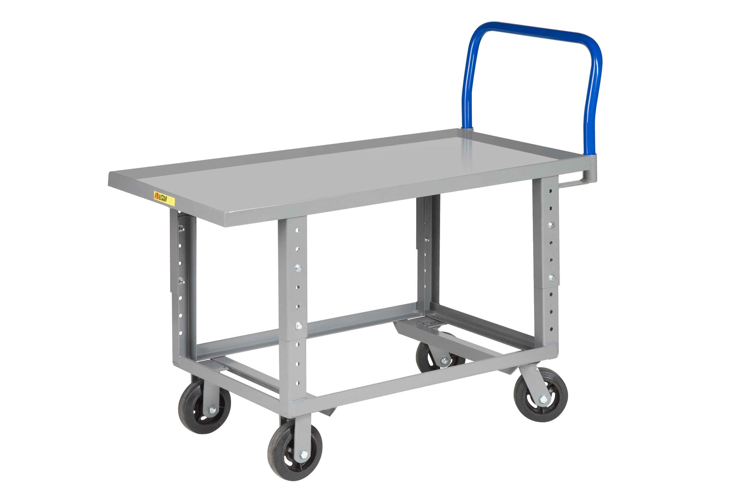 Little Giant RNL-3060-6MR-AH 12-Gauge Steel Ergonomic Lip Edge Adjustable Work-Height Platform Truck, 2000 lbs Capacity, 60'' Length x 30'' Width