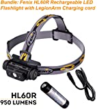 Bundle: Fenix HL60R Rechargeable LED Flashlight 950 Lumens Headlamp with 18650 Rechargeable Battery and LegionArms USB charging cord
