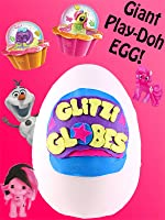 GIANT Glitzi Globes Play Doh Surprise Egg| MLP Necklace, Zelfs Pot, Frozen Dog Tag
