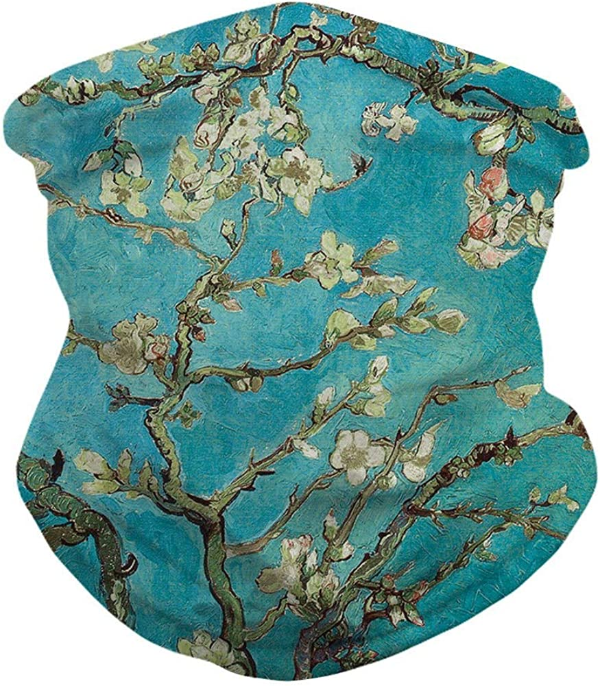 Skull Tie-Dye Face Mask Bandanas Cooling Neck Gaiter Scarf Balaclava Headwear Dust Sun Face Cover for Men Women