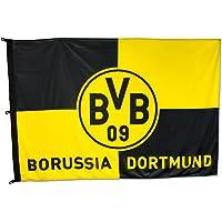 Borussia Dortmund BVB 11000400 Hissfahne 180x120cm mit Karo-Muster Schwarz/gelb 180 x 120 x 1 cm