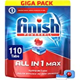 Finish All in One 110 Pastilles lave-vaisselle Classic – 1 800 g