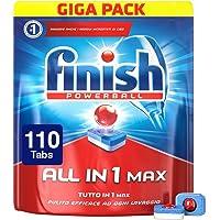 Finish Pastiglie Lavastoviglie All in 1 Max, Regular, 110 Tabs