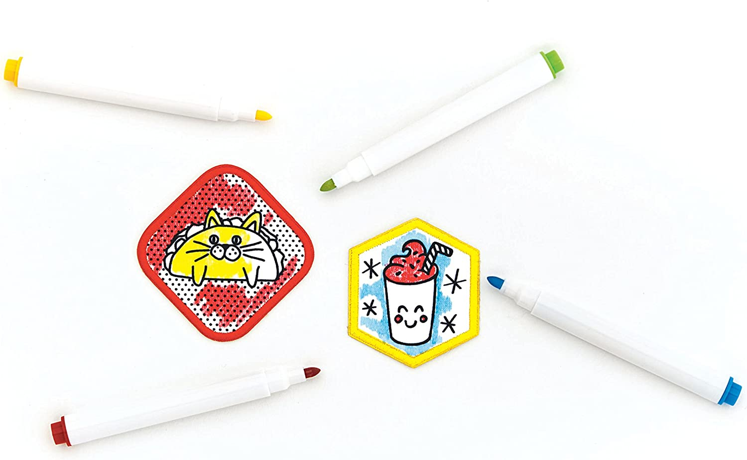 Design Your Own Iron-On Patches and Pins Craft Kit Creativity for Kids Pin /& Patch Studio