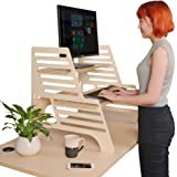 THUNDESK Height Adjustable Standing Desk Converts Any Desk to a Standing Desk