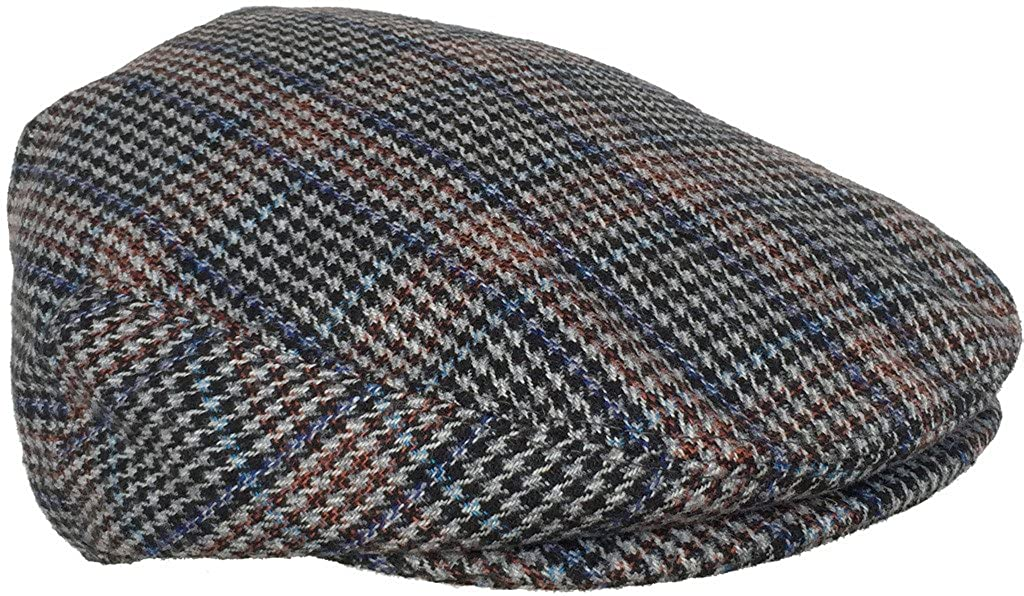 Plaid Wool Blend Ivy Scally Cap Houndstooth Driver Hat Newsboy Flat