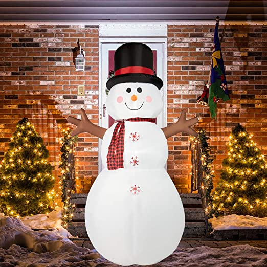 Large Inflatable LED Snowman Xmas Christmas Indoor Outdoor Home Yard Party