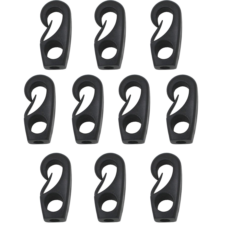 9//32 YI YA SU 15//64,1//4 Pack of 10 YYST Kayak Cord Hook Nylon Bungee Hook for Shock Cords 3//16