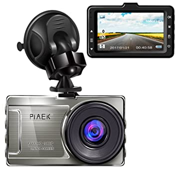 Cámara para Coche Full HD 1080P Dashcam DVR 170° Gran angular 3 LCD