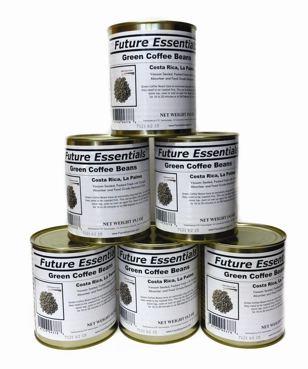 Future Essentials Green Coffee Beans, Costa Rican La Palma (Half-Case (6-Pack)) by Future Essentials