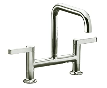 Kohler K 6125 4 Sn Torq Deck Mount Bridge Kitchen Faucet Vibrant