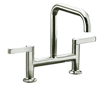 Kohler K 6125 4 Sn Torq Deck Mount Bridge Kitchen Faucet