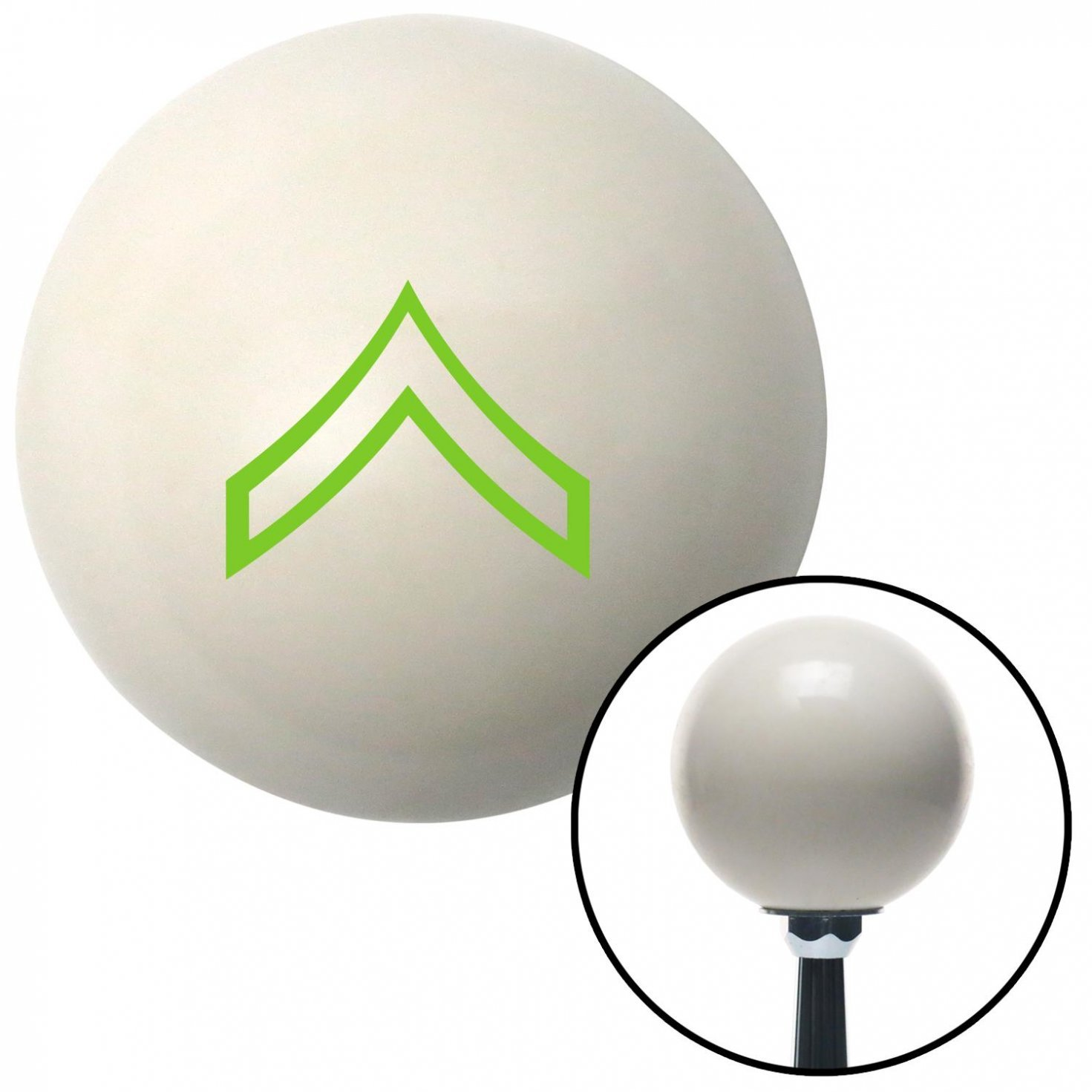 American Shifter 40684 Ivory Shift Knob with 16mm x 1.5 Insert Green 01 Private First Class