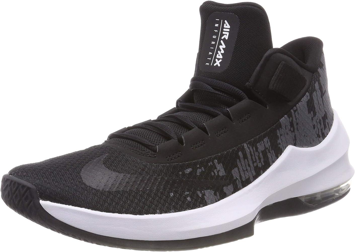 e8768b4ba21c6 Men's Air Max Infuriate 2 Mid Basketball Shoe Black/White-Anthracite, 7.5