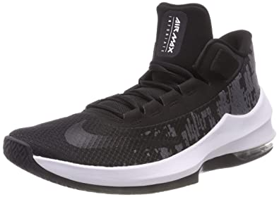 cae21eda40b Nike Men s Air Max Infuriate 2 Mid Basketball Shoe Black White Anthracite (8