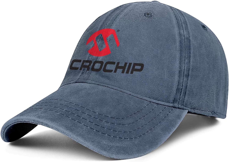 Men Women Caps Microchip Logo Hat Snapback Custom Denim Cap Print Hats