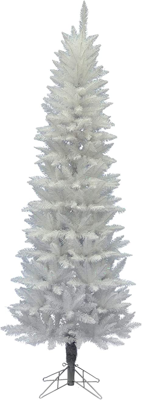 Amazon Com Vickerman 7 5 Sparkle White Spruce Pencil Artificial Christmas Tree Unlit Faux Spruce Christmas Tree Seasonal Indoor Home Decor Home Kitchen