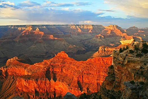 Grand Canyon Panorama Arizona Travel Art Print POSTER