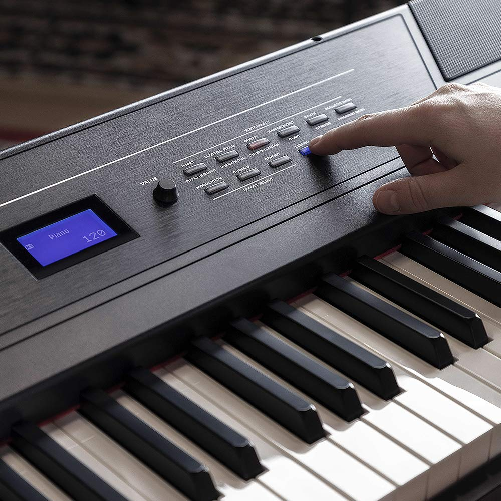 Alesis Recital Pro | Digital Piano / Keyboard with 88 Hammer Action Keys, 12 Premium Voices, 20W Built-in Speakers, Headphone Output and Educational Features by Alesis (Image #3)