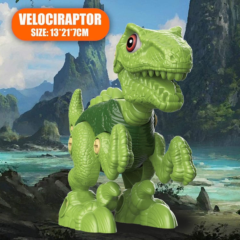 Jouet Enfant 3 Ans Bricolage Jeux Construction Enfant comprennent Tyrannosaurus Rex Velociraptor et Triceratops Vanplay D/émontage Jouet Dinosaure avec Jeu Perceuse /Électrique