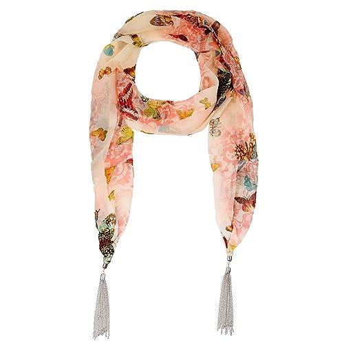 Lureme® borlas de metal tono rodio estilo bohemio de la vendimia con la mariposa y la flor de la imp...