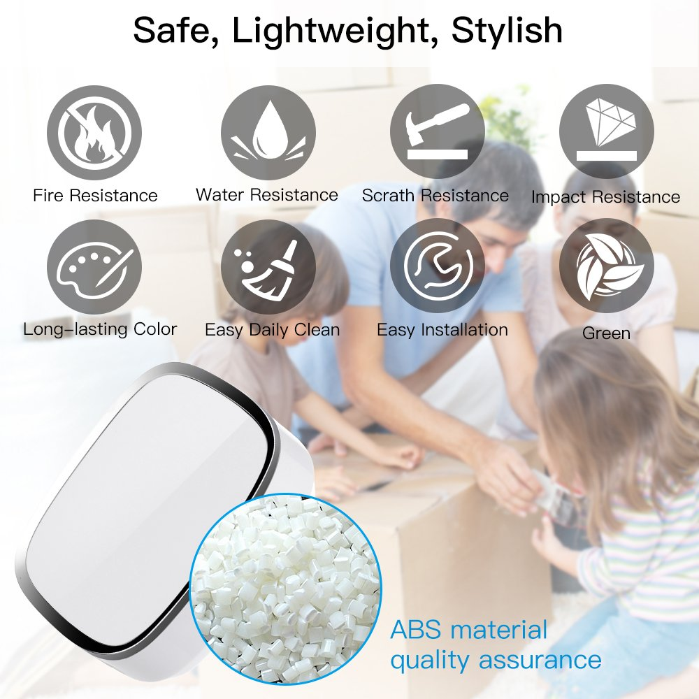 Wireless Doorbell WADAVA Waterproof Bell Plug-in Door Chime Kit with 1000ft 280m Range 36 Tunes 1 Push Button & 2 Receivers Without Battery Required 4 Level Volume LED Flash Hardware Included (white) by WADAVA (Image #3)