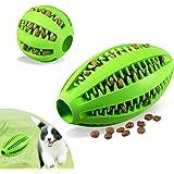 Foonii 2 Piezas Juguete de Goma Masticar Mascotas, Juguete para Limpieza Dental,Bola interactiva