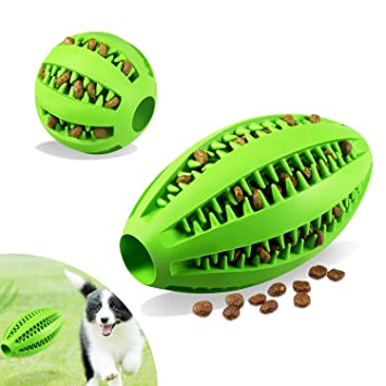 Foonii 2 Piezas Juguete de Goma Masticar Mascotas, Juguete para Limpieza Dental,Bola interactiva para Mascotas Perros Masticar Jugar Traning Ejercicio: ...