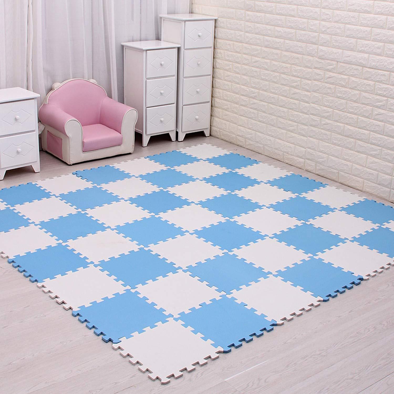 18pc//Set Baby EVA Foam Puzzle Play Mat//Kids Rugs Toys Carpet for Childrens Interlocking Exercise Floor Tiles,Each:29cmX29cm,China,Yellow,18pcs