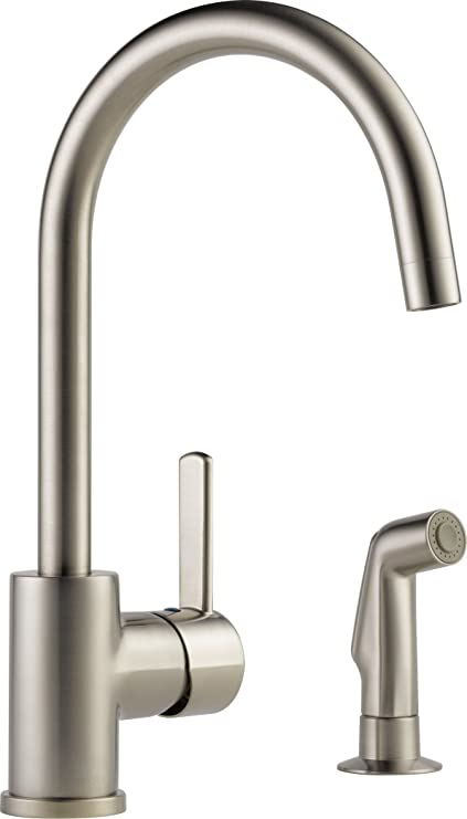 Peerless Precept Single Handle Kitchen Sink Faucet With Side Sprayer Stainless P199152lf Ss