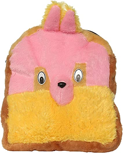 Bagaholics Cute Teddy School Bag Soft Plush Toy School Backpack for Kids (Peach)